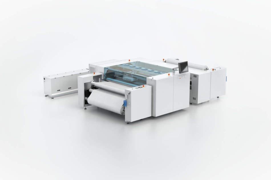 La stampante Mouvent digitale tessile a 8 colori a ITM 2018