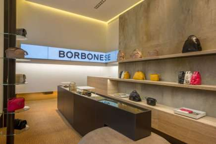 La tecnologia in-store di Dominodisplay comunica il lusso di Borbonese